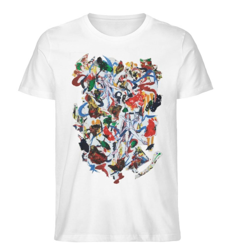 """Ring a Ring o-Rosie"" von Ira Bla - Herren Premium Organic Shirt-3"