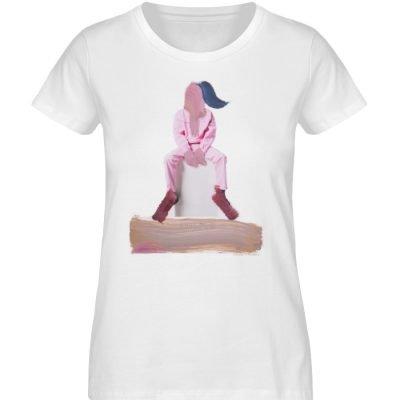 """""""die Abwartende"""" - Damen Premium Organic Shirt-3"""