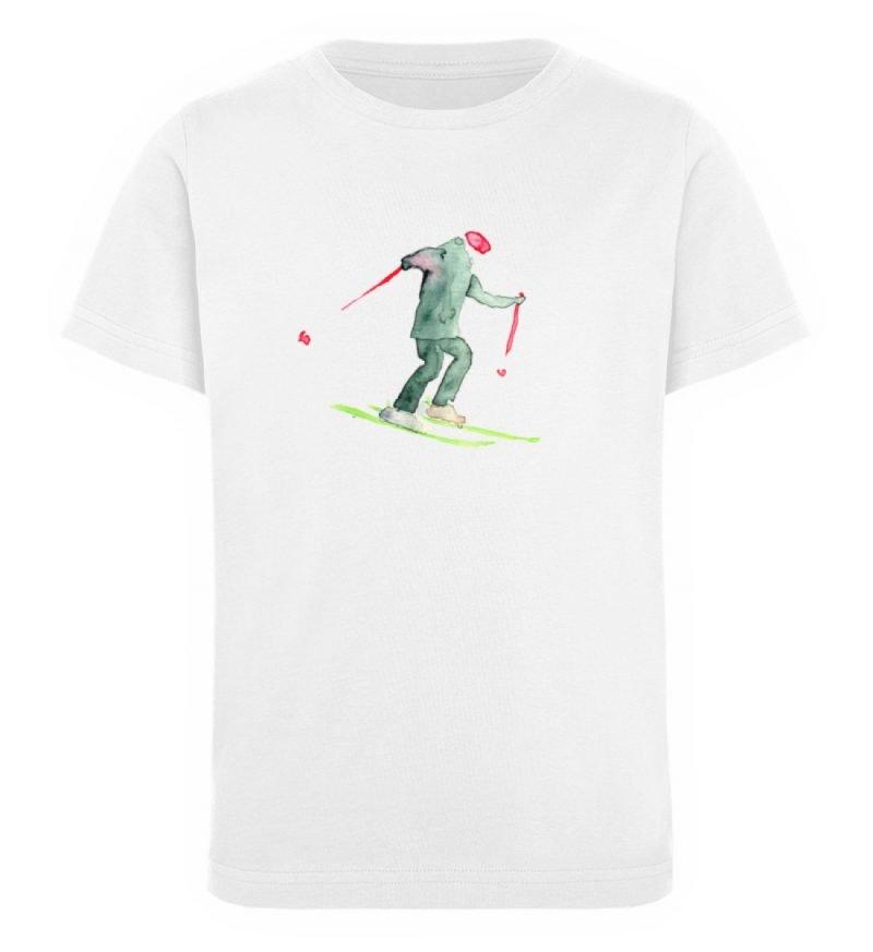 """Skifahrer"" von Sophia Kirst - Kinder Organic T-Shirt-3"