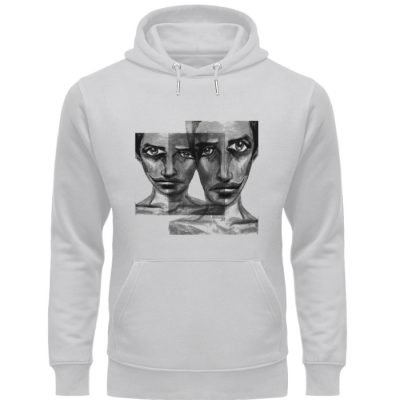 """f-ed up faces"" von Vera Machourek - Unisex Organic Hoodie-17"