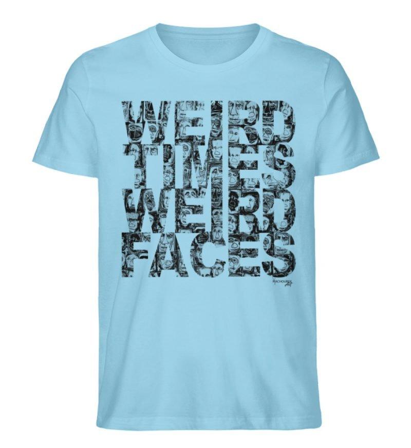 """""""WEIRD TIMES WEIRD FACES"""" by Vera Machou - Herren Premium Organic Shirt-674"""