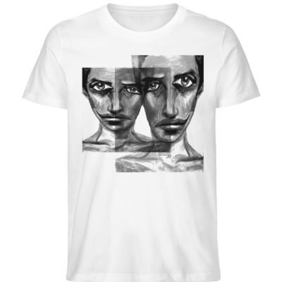 """f-ed up faces"" von Vera Machourek - Herren Premium Organic Shirt-3"