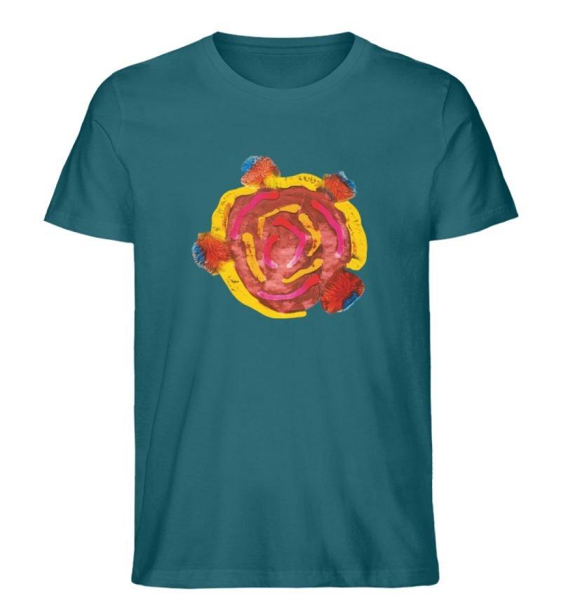 """""""Aus der Mitte 3"""" von Carolin Leyck - Herren Premium Organic Shirt-6878"""