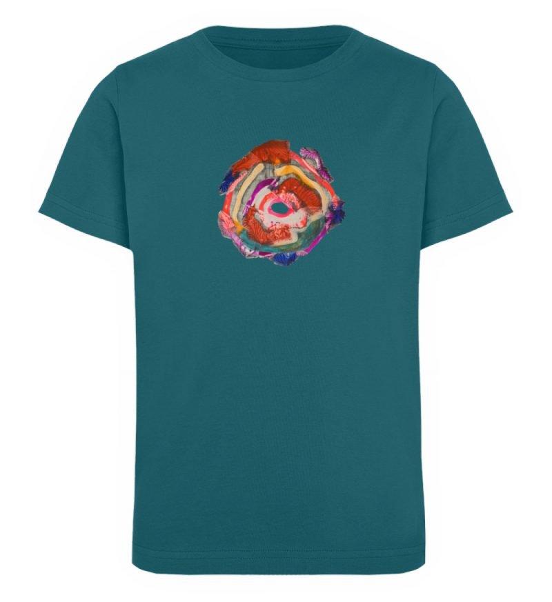 """""""Aus der Mitte 1"""" von Carolin Leyck - Kinder Organic T-Shirt-6878"""