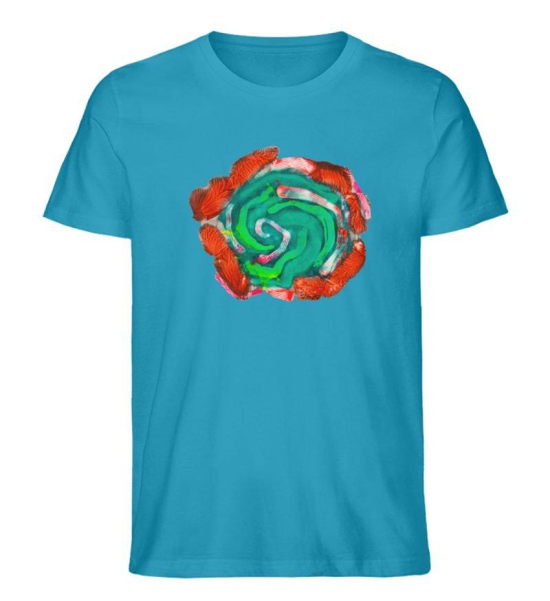 """""""Aus der Mitte 4"""" von Carolin Leyck - Herren Premium Organic Shirt-6877"""