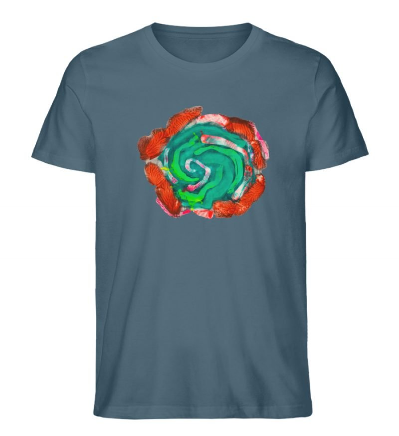 """""""Aus der Mitte 4"""" von Carolin Leyck - Herren Premium Organic Shirt-6880"""