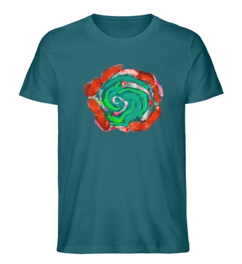 """""""Aus der Mitte 4"""" von Carolin Leyck - Herren Premium Organic Shirt-6878"""