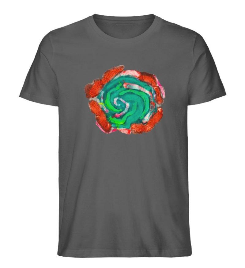 """""""Aus der Mitte 4"""" von Carolin Leyck - Herren Premium Organic Shirt-6903"""