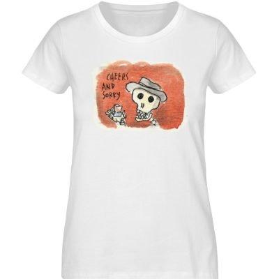"""""""Cheers and sorry"""" von Steffen Haas - Damen Premium Organic Shirt-3"""