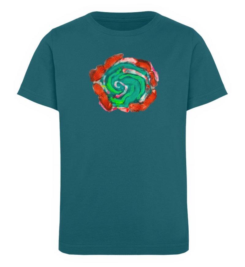 """""""Aus der Mitte 4"""" von Carolin Leyck - Kinder Organic T-Shirt-6878"""