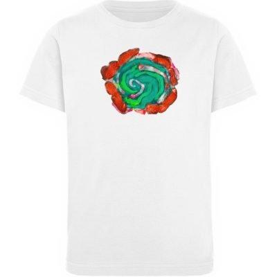 """""""Aus der Mitte 4"""" von Carolin Leyck - Kinder Organic T-Shirt-3"""