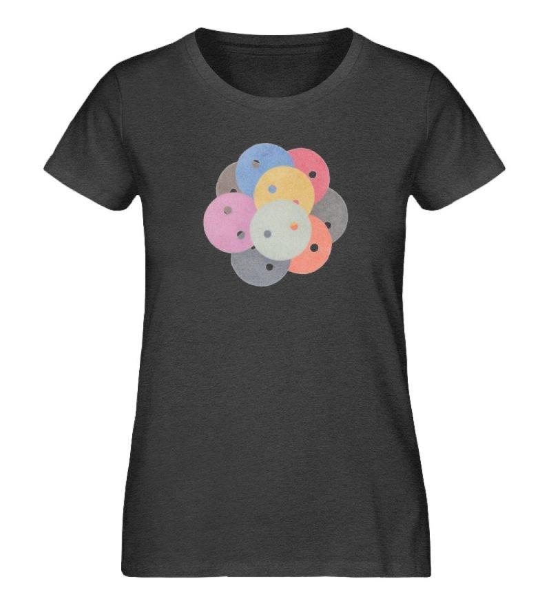 """""""Knöpfe 1"""" von Monika Kapfer - Damen Premium Organic Shirt-6881"""