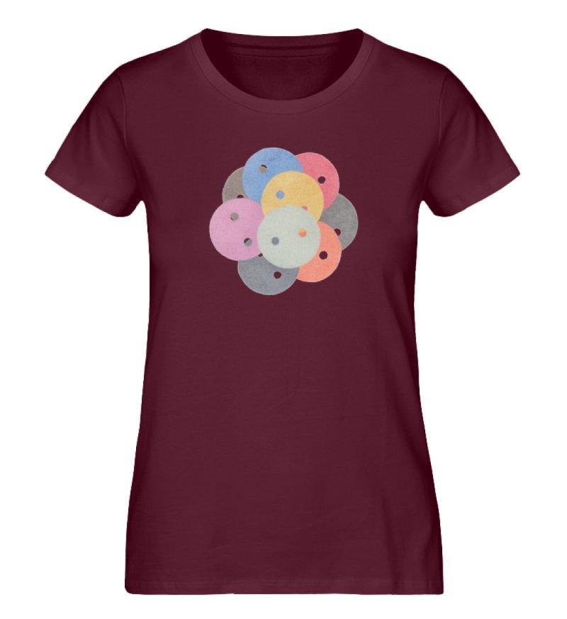 """""""Knöpfe 1"""" von Monika Kapfer - Damen Premium Organic Shirt-839"""