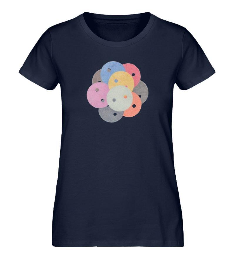 """""""Knöpfe 1"""" von Monika Kapfer - Damen Premium Organic Shirt-6959"""
