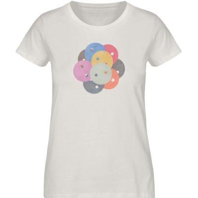 """""""Knöpfe 1"""" von Monika Kapfer - Damen Premium Organic Shirt-6865"""