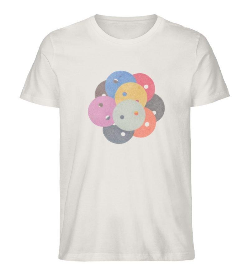 """""""Knöpfe 1"""" von Monika Kapfer - Herren Premium Organic Shirt-6865"""