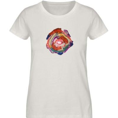 """""""Aus der Mitte 1"""" von Carolin Leyck - Damen Premium Organic Shirt-6865"""