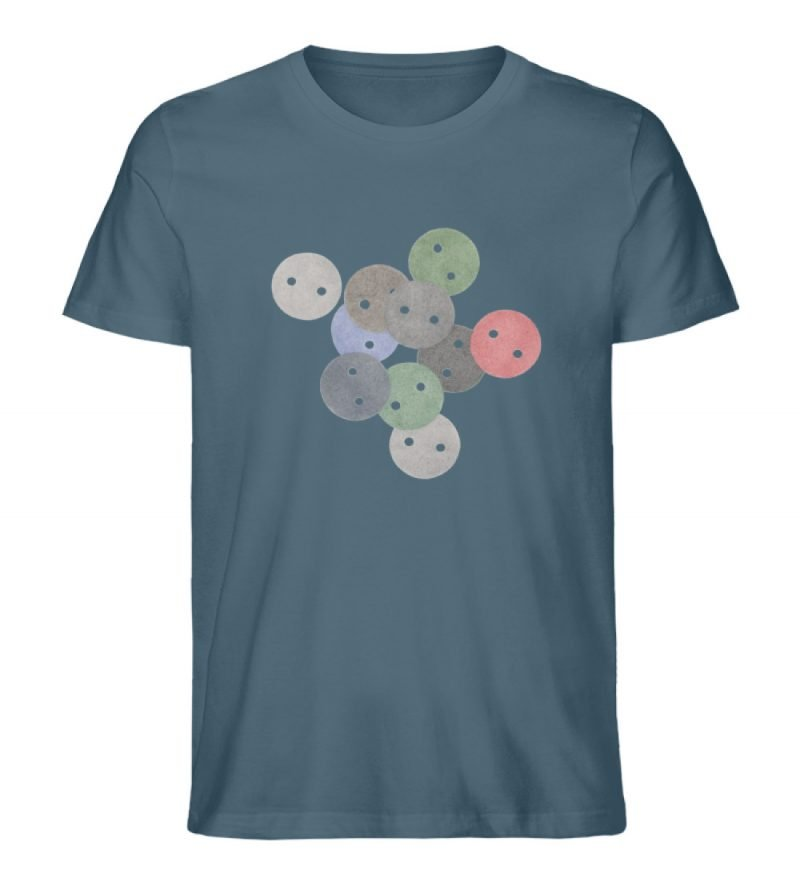 """""""Knöpfe 2"""" von Monika Kapfer - Herren Premium Organic Shirt-6880"""