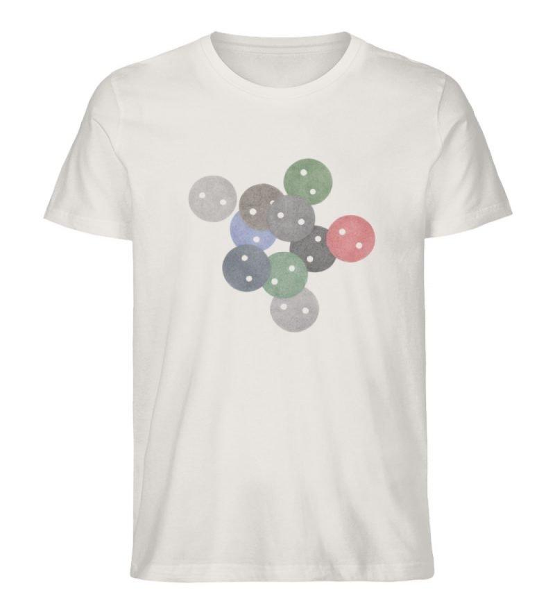 """""""Knöpfe 2"""" von Monika Kapfer - Herren Premium Organic Shirt-6865"""