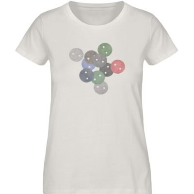 """""""Knöpfe 2"""" von Monika Kapfer - Damen Premium Organic Shirt-6865"""