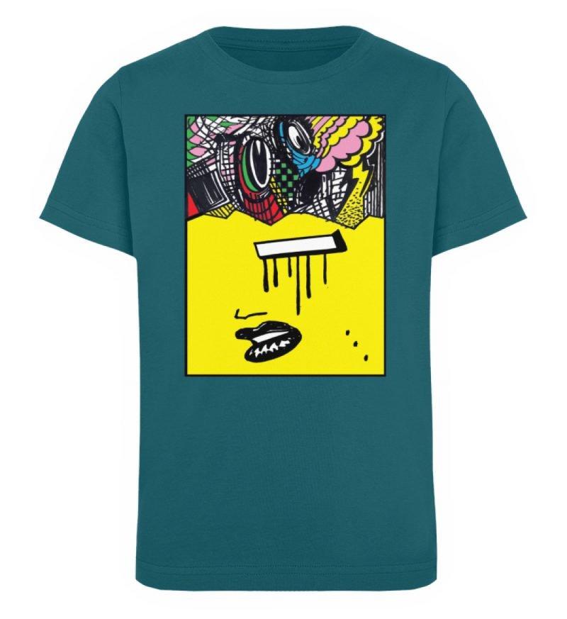 """Foxy Fear"" von Alex Rath - Kinder Organic T-Shirt-6878"