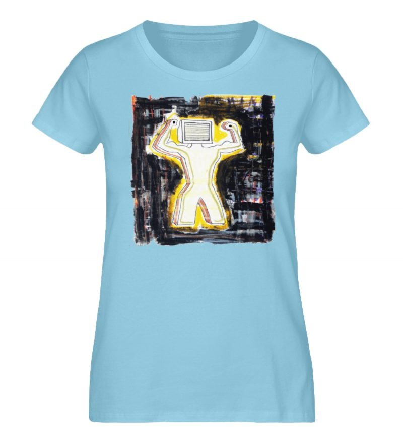 """""""Mediaman"""" von Alex Rath - Damen Premium Organic Shirt-674"""