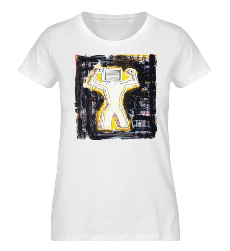 """""""Mediaman"""" von Alex Rath - Damen Premium Organic Shirt-3"""