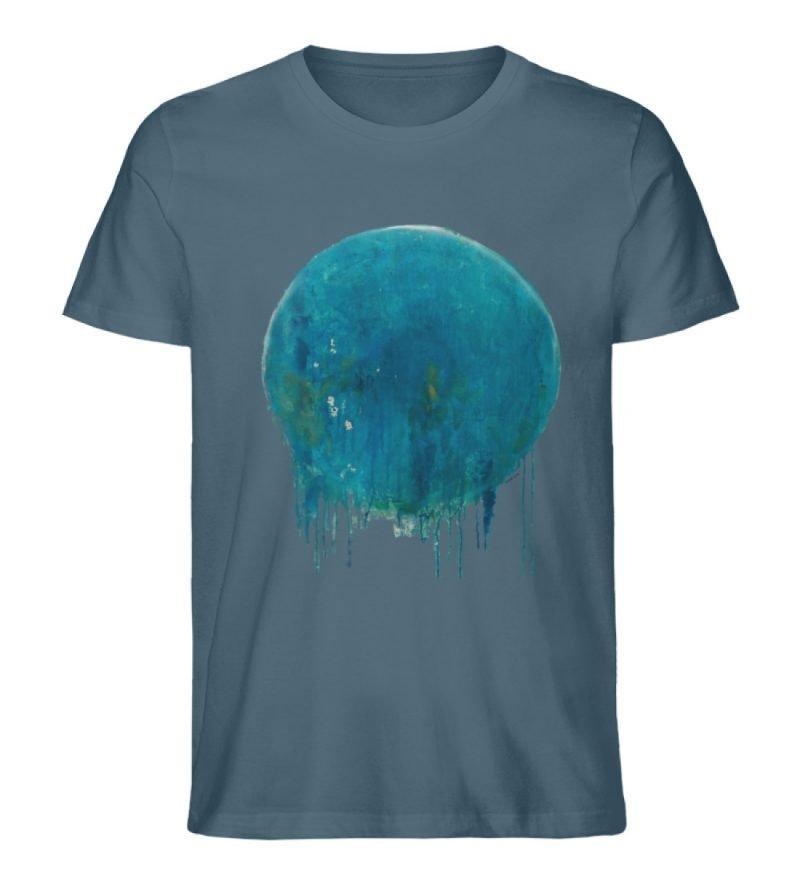 """""""Kreis auf Blau"""" von Birgit Jung - Herren Premium Organic Shirt-6880"""
