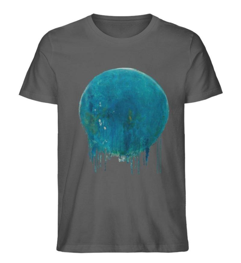 """""""Kreis auf Blau"""" von Birgit Jung - Herren Premium Organic Shirt-6903"""