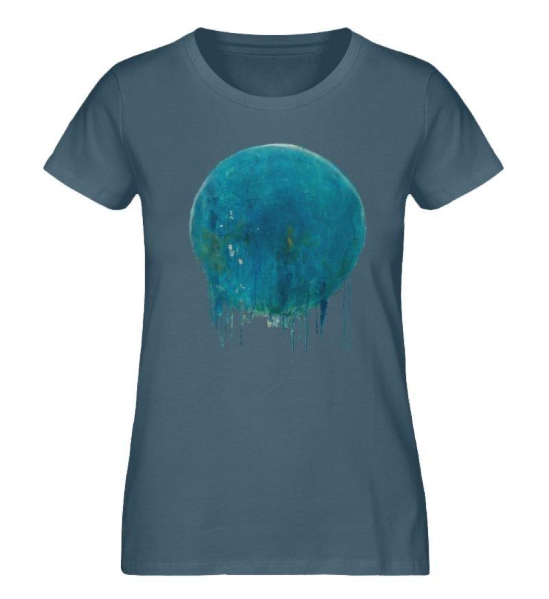 """""""Kreis auf Blau"""" von Birgit Jung - Damen Premium Organic Shirt-6880"""