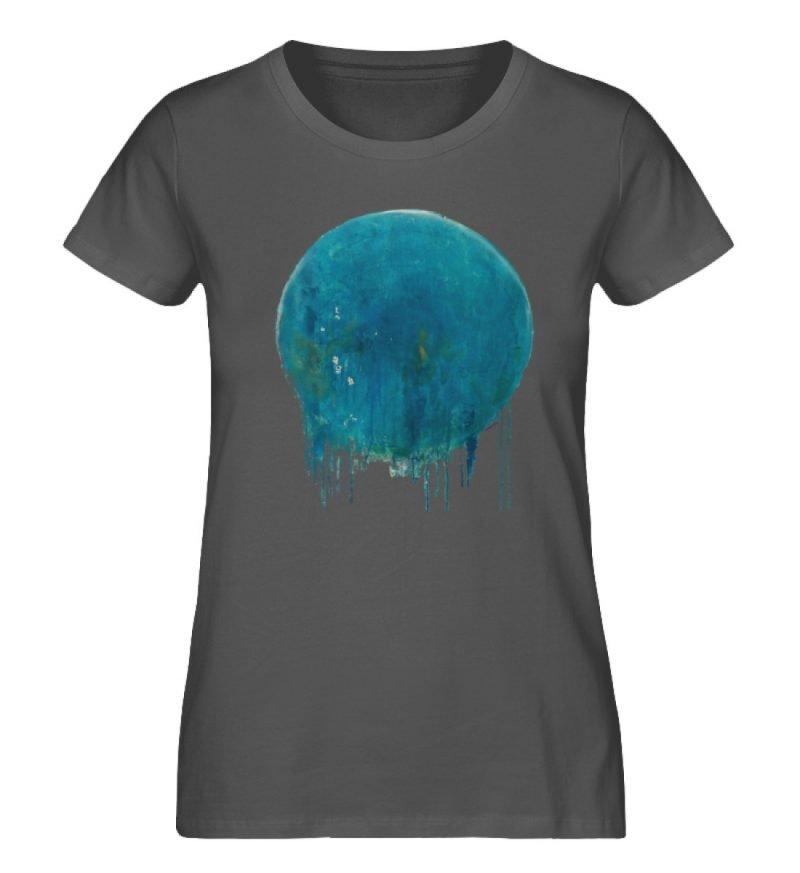 """""""Kreis auf Blau"""" von Birgit Jung - Damen Premium Organic Shirt-6903"""