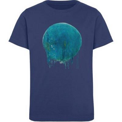"""""""Kreis auf Blau"""" von Birgit Jung - Kinder Organic T-Shirt-6057"""