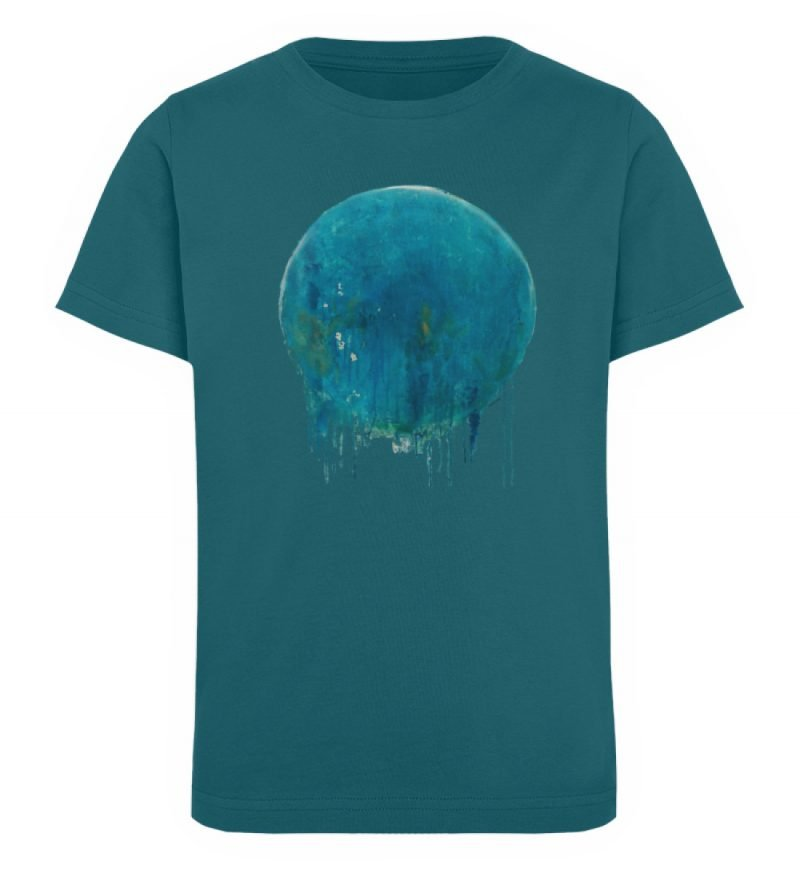"""""""Kreis auf Blau"""" von Birgit Jung - Kinder Organic T-Shirt-6878"""