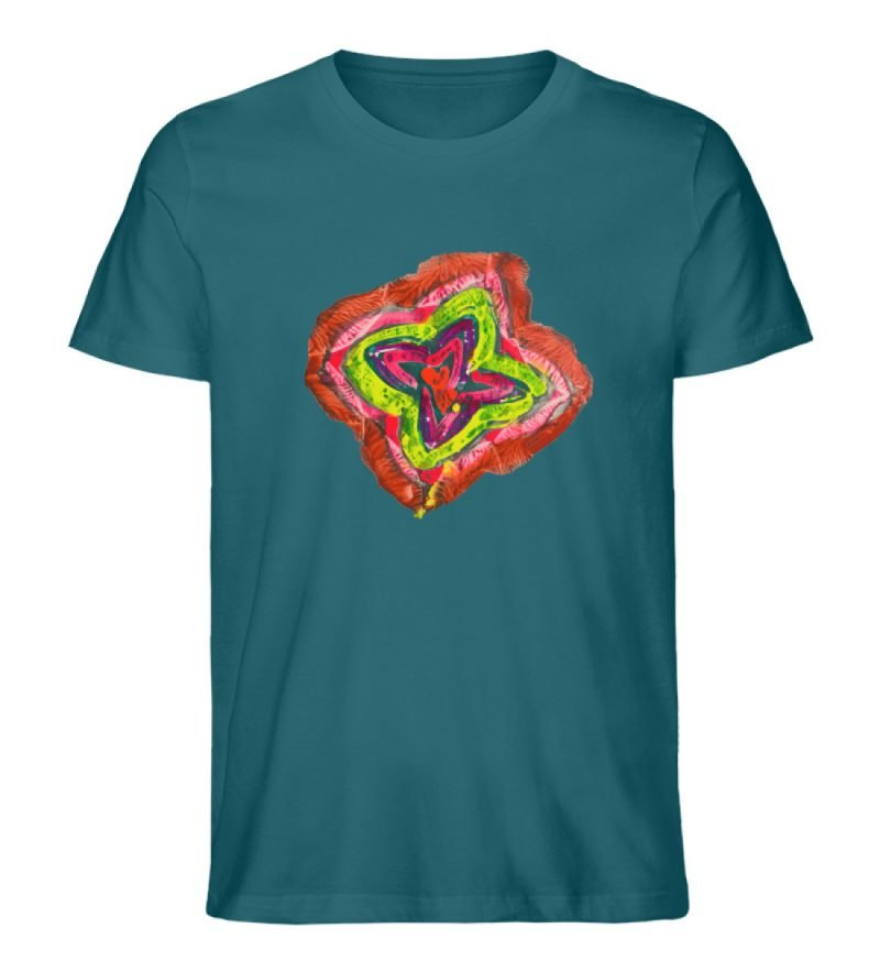 """""""Aus der Mitte 2"""" von Carolin Leyck - Herren Premium Organic Shirt-6878"""