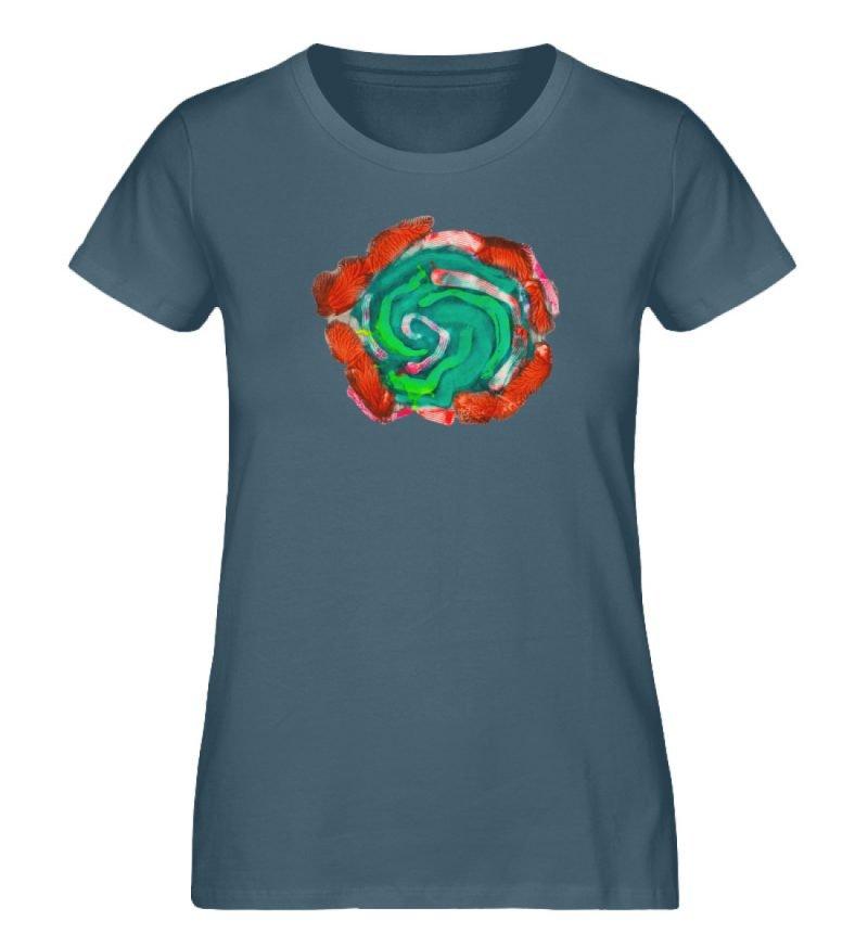 """""""Aus der Mitte 4"""" von Carolin Leyck - Damen Premium Organic Shirt-6880"""