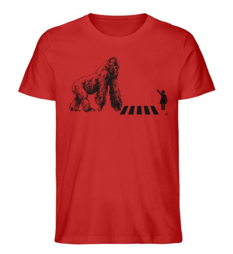 """Gorilla"" von Christoph Everding - Herren Premium Organic Shirt-4"