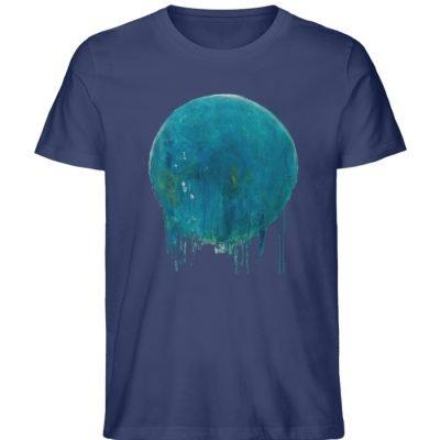 """""""Kreis auf Blau"""" von Birgit Jung - Herren Premium Organic Shirt-6057"""