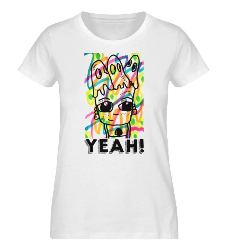 """""""YEAH!"""" von Susanne Beucher - Damen Premium Organic Shirt-3"""