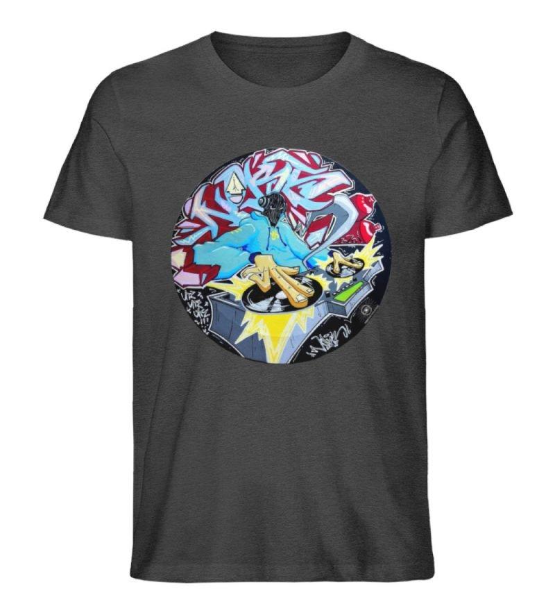 """""""Noks auf Platte"""" von Third Eye Collecti - Herren Premium Organic Shirt-6881"""