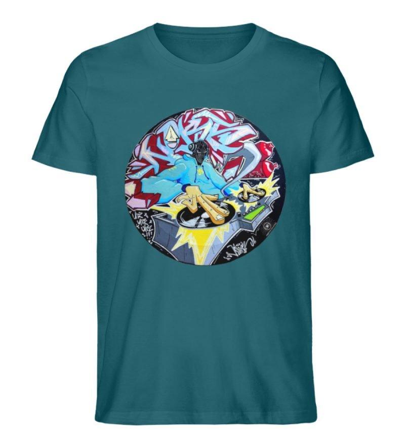 """""""Noks auf Platte"""" von Third Eye Collecti - Herren Premium Organic Shirt-6878"""