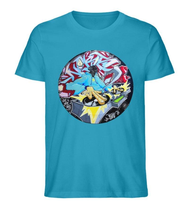 """""""Noks auf Platte"""" von Third Eye Collecti - Herren Premium Organic Shirt-6877"""