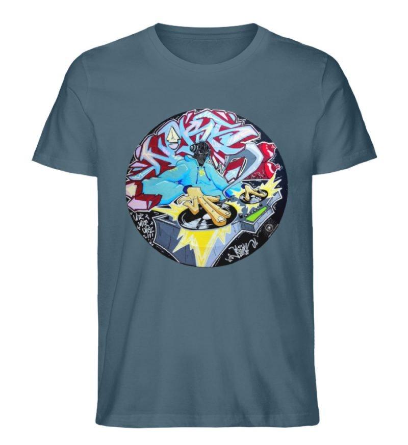 """""""Noks auf Platte"""" von Third Eye Collecti - Herren Premium Organic Shirt-6880"""