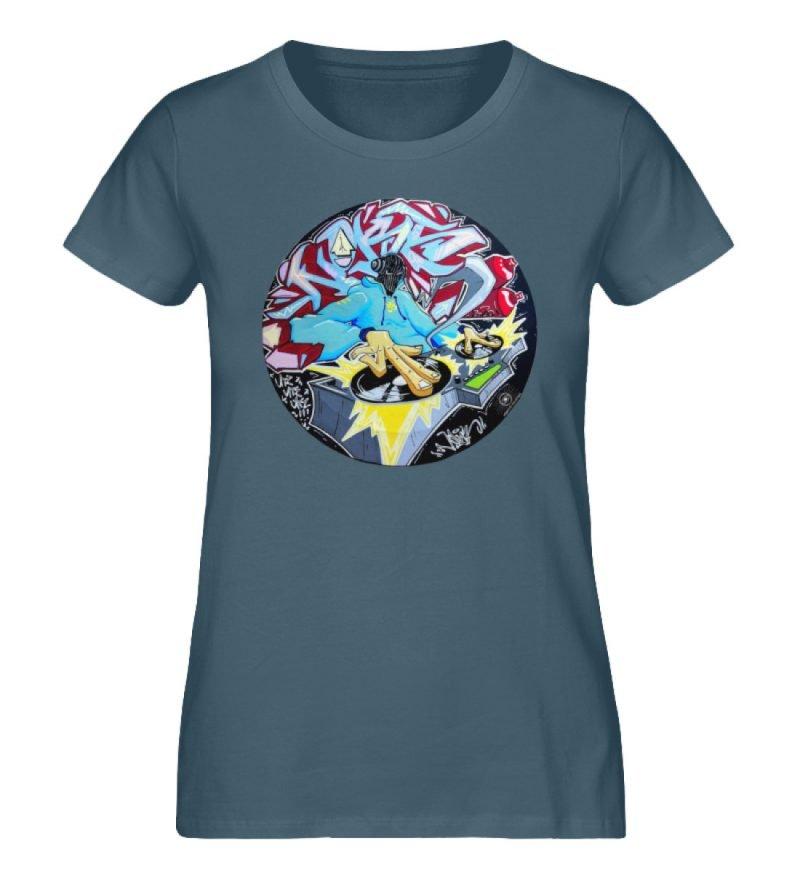 """""""Noks auf Platte"""" von Third Eye Collecti - Damen Premium Organic Shirt-6880"""