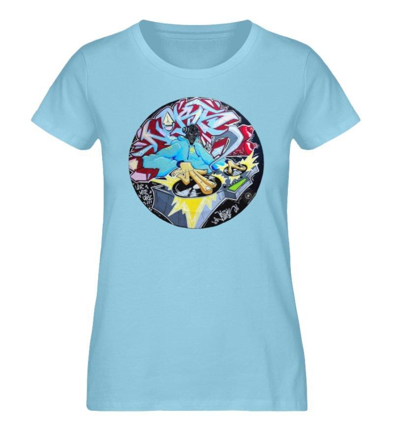 """""""Noks auf Platte"""" von Third Eye Collecti - Damen Premium Organic Shirt-674"""