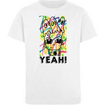 """""""YEAH!"""" von Susanne Beucher - Kinder Organic T-Shirt-3"""