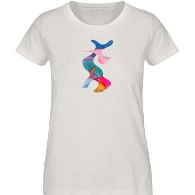 """""""Lob des Schattens 3"""" von Carolin Leyck - Damen Premium Organic Shirt-6865"""