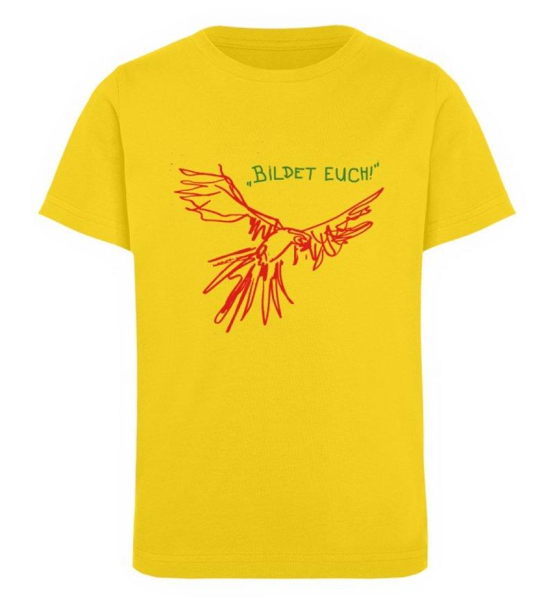 """""""Bildet euch!"""" von Sarah Ludes - Kinder Organic T-Shirt-6885"""