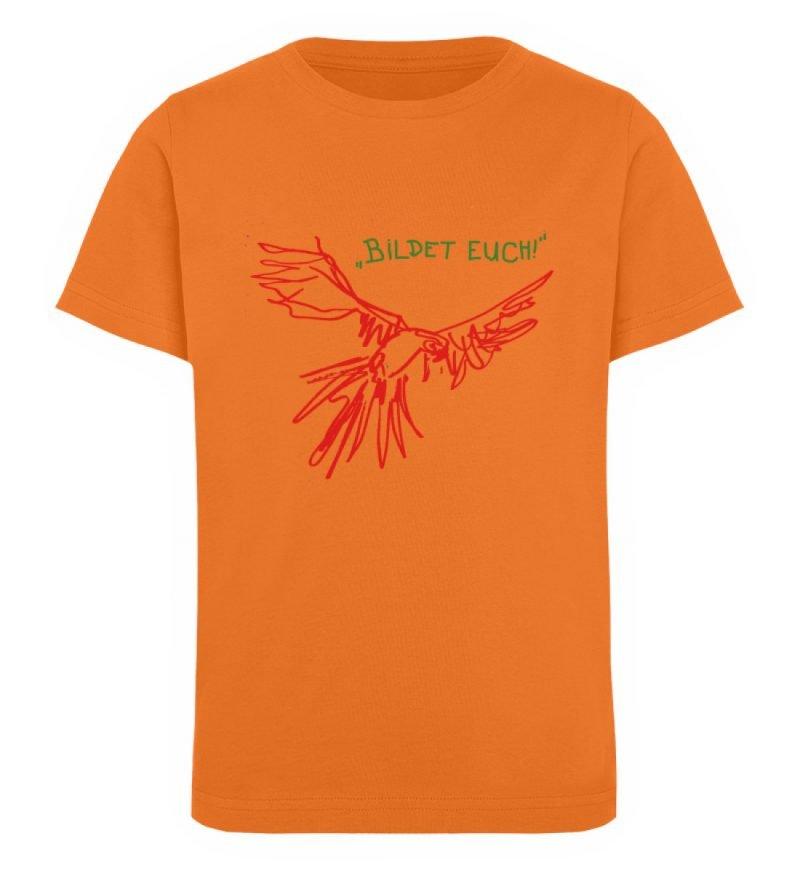 """""""Bildet euch!"""" von Sarah Ludes - Kinder Organic T-Shirt-6882"""