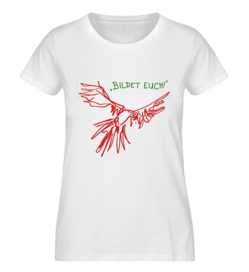 """""""Bildet euch!"""" von Sarah Ludes - Damen Premium Organic Shirt-3"""