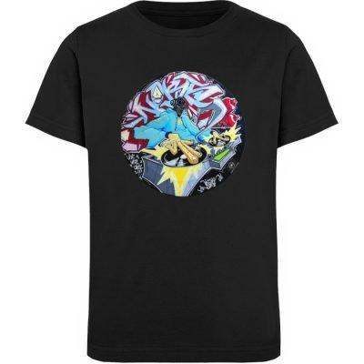 """""""Noks auf Platte"""" von Third Eye collecti - Kinder Organic T-Shirt-16"""